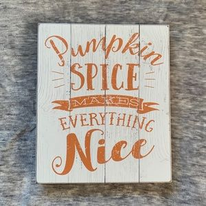 NEW Fall Quote Wood Pumpkin Spice Box Frame Decor
